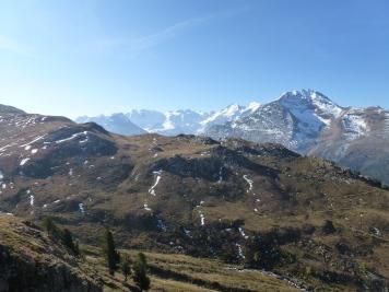Blick auf die Bündner Alpen