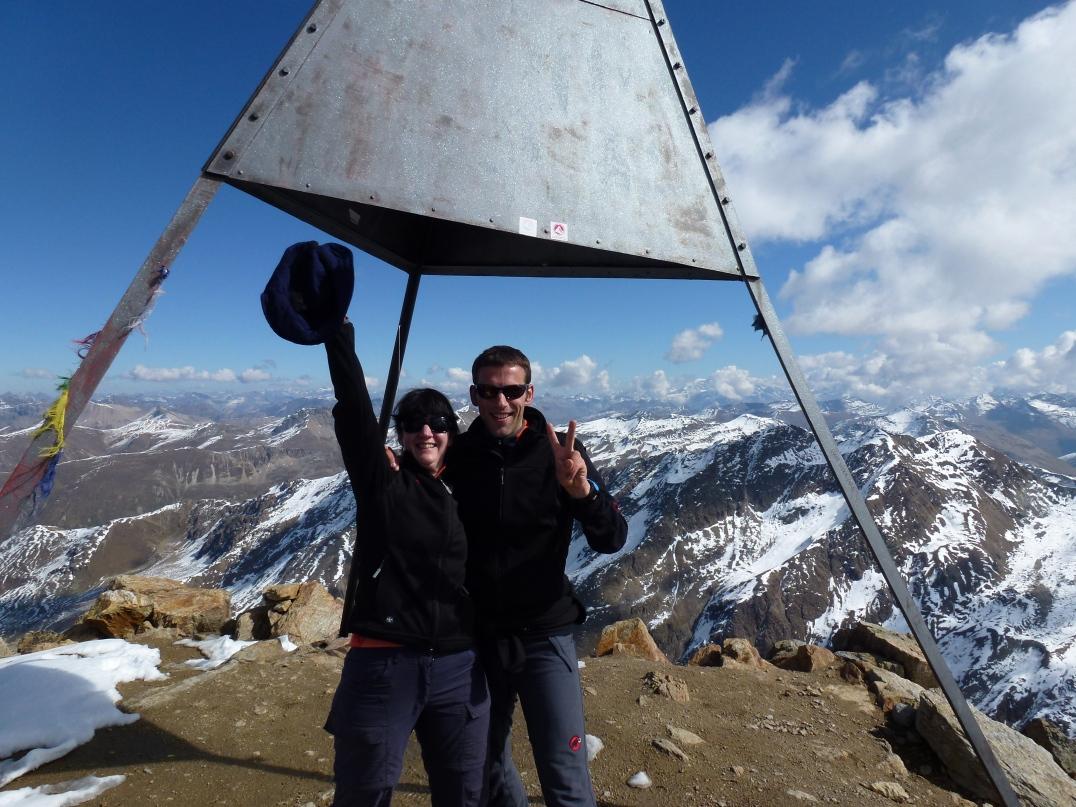 Auf dem Gipfel des Piz Languard