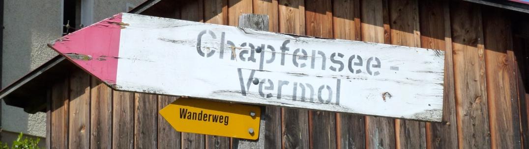 Wegweiser Chapfensee