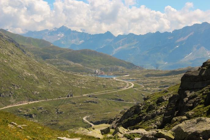 Blick auf den Gotthard-Pass.