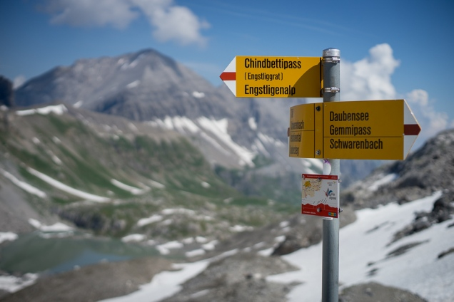 Neue Infotafeln auf der Via Alpina.