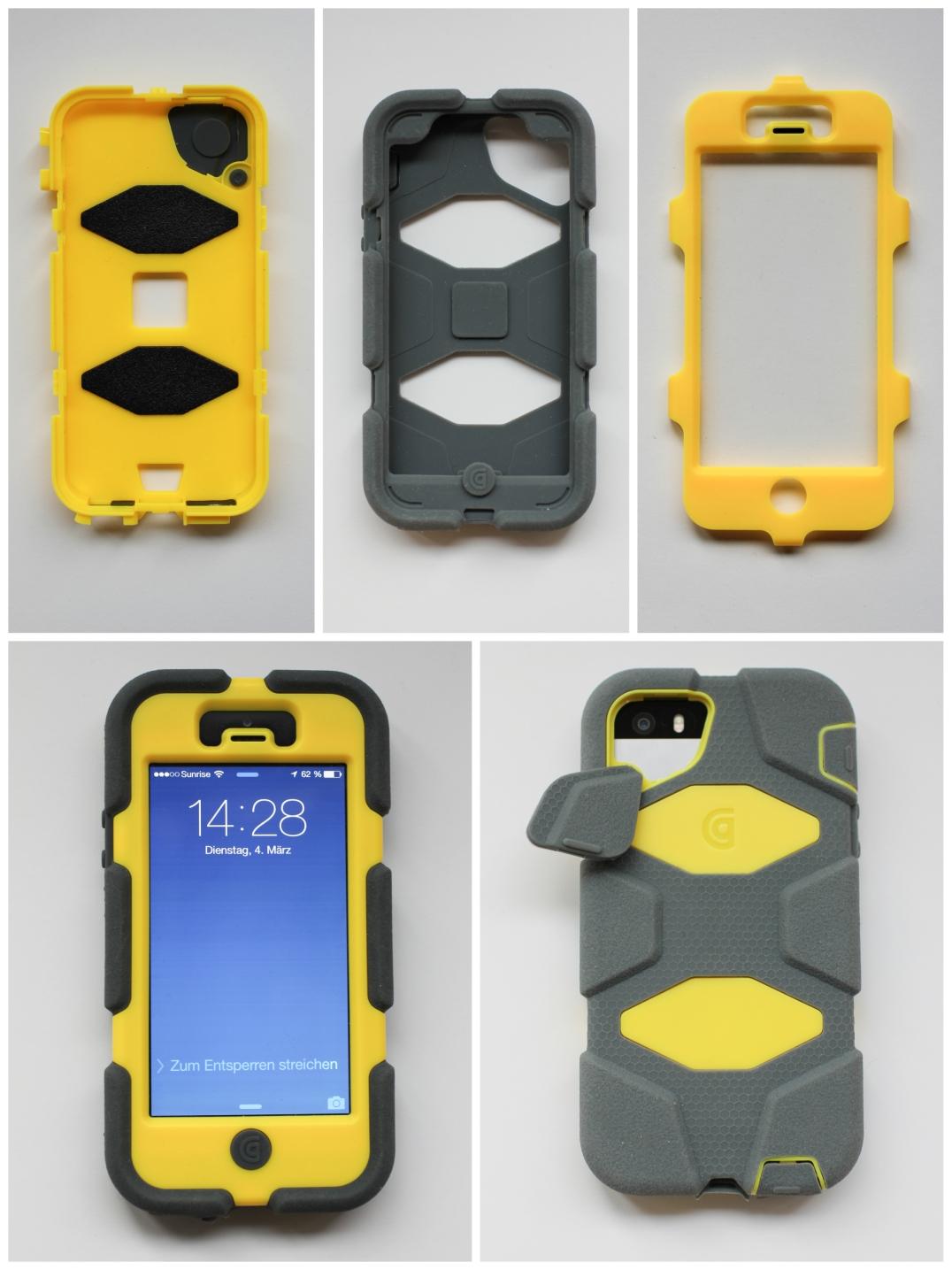 Perfekt für den Outdoor-Gebrauch: Das Griffin Case für das iPhone 5 / Bild: bergwelt.me