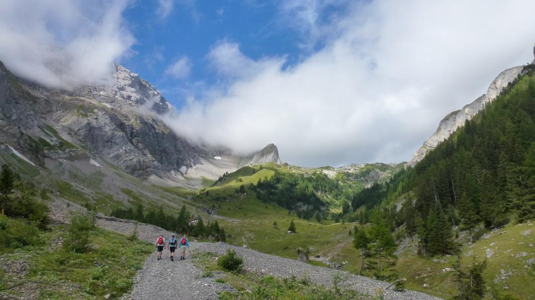 Aufstieg zur Wildhornhütte.