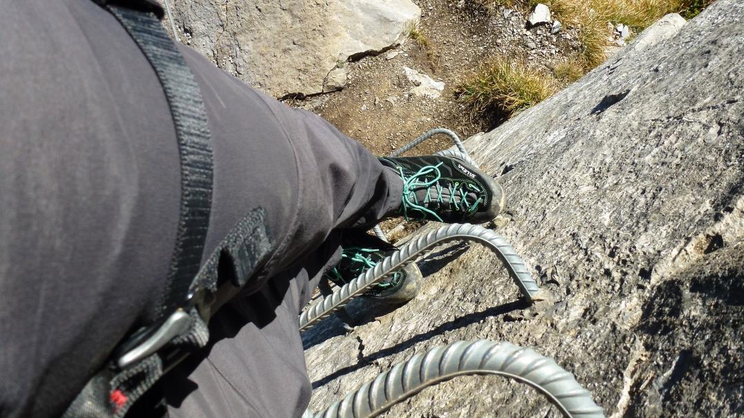 Der Mountain Trainer eignet sich auch für Klettersteig-Touren