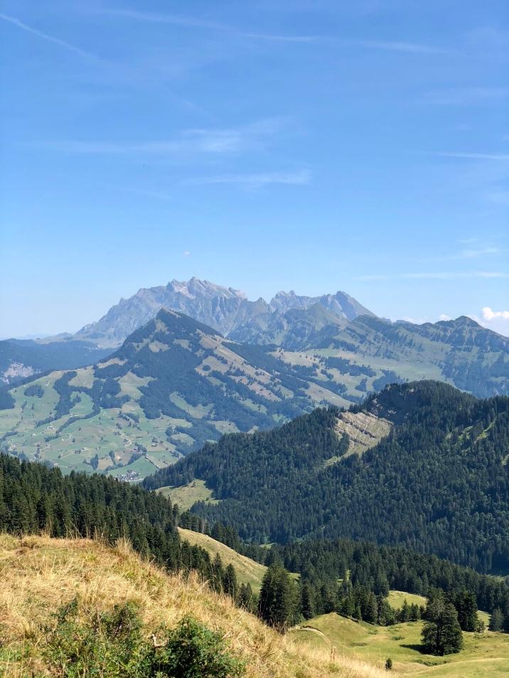 Blick vom Toggenburg auf den Alpstein