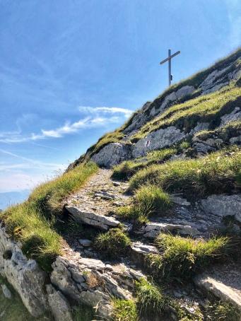 Aufstieg zum Mutschen-Gipfel.